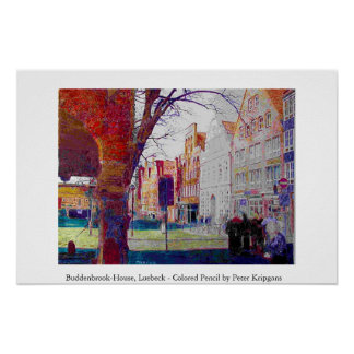 Buddenbrook-House, Luebeck, Northern Germany Poster