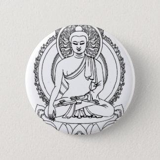 Buddha 6 Cm Round Badge