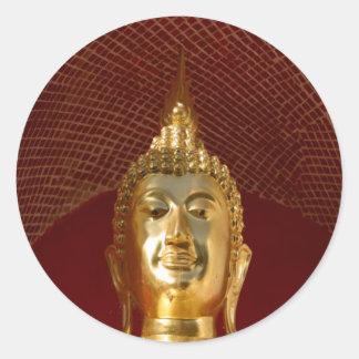 Buddha 6 ~ Thailand Peace Tranquility Serenity Round Sticker