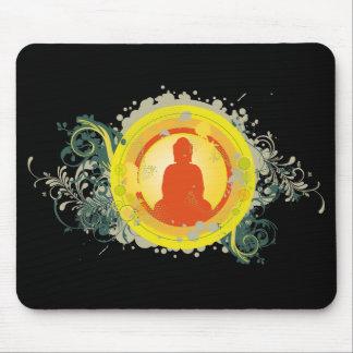 Buddha Abstract Sunset Mouse Pad