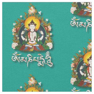 Buddha Amitabha Om Mani Padme Hum Tibetan Fabric