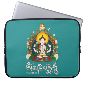 Buddha Amitabha Om Mani Padme Hum Tibetan Laptop Sleeve