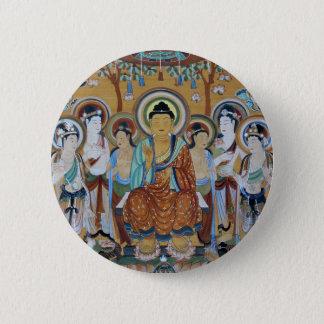Buddha and Bodhisattvas Dunhuang Mogao Caves Art 6 Cm Round Badge