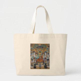 Buddha and Bodhisattvas Dunhuang Mogao Caves Art Large Tote Bag