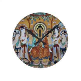 Buddha and Bodhisattvas Dunhuang Mogao Caves Art Round Clock