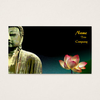Buddha and lotus Business Card, Holistic Healers Business Card