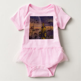 buddha and moon baby bodysuit