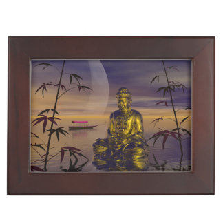 buddha and moon keepsake box