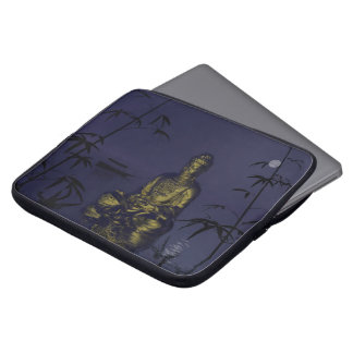 buddha and night laptop computer sleeves
