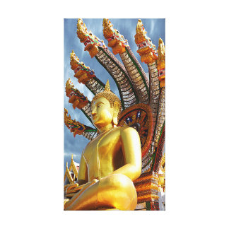 Buddha And The Seven Sea Serpents Canvas Print