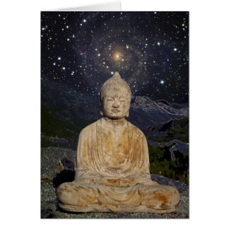 Buddha and the Stars Card