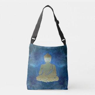 Buddha applied (blue) crossbody bag