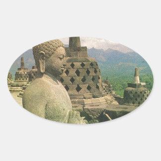Buddha bell statue, Borobodur temple, Java Sticker