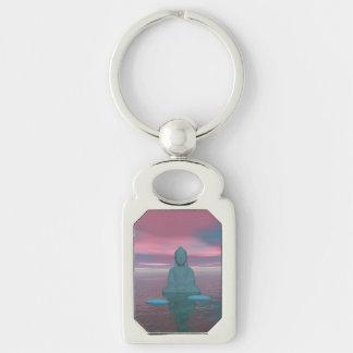 buddha blue and steps grey key ring