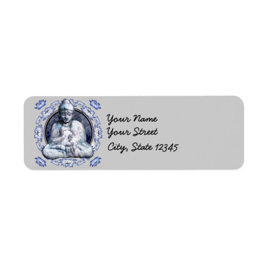 Buddha Breathe Return Address Label