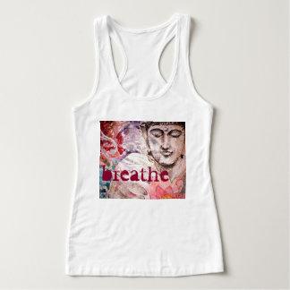 Buddha Breathe Watercolor Art T-Shirt