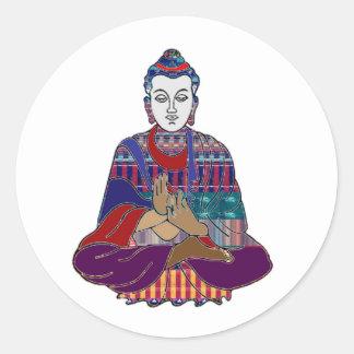 Buddha Buddhism religion peace worship healing Classic Round Sticker