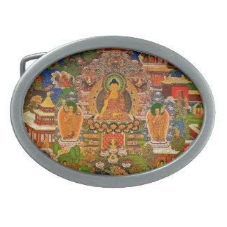 Buddha Buddhist Buddhism Blessing Boho Bohemian Oval Belt Buckles
