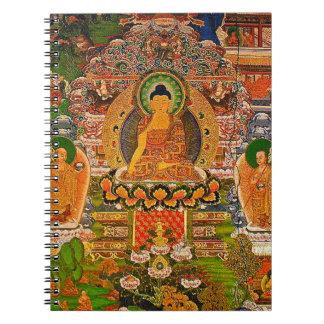 Buddha Buddhist Buddhism Blessing Boho Bohemian Spiral Notebook