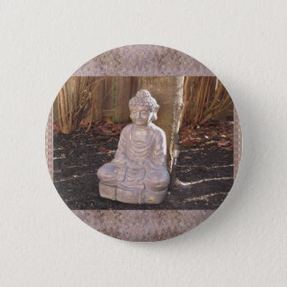 Buddha Buddhist Spiritual Statue Idol Peace Happy 6 Cm Round Badge