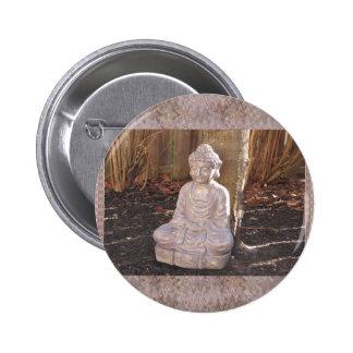 Buddha Buddhist Spiritual Statue Idol Peace Happy 6 Cm Round Badge