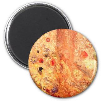Buddha by Symbolist Painter Odilon Redon 6 Cm Round Magnet