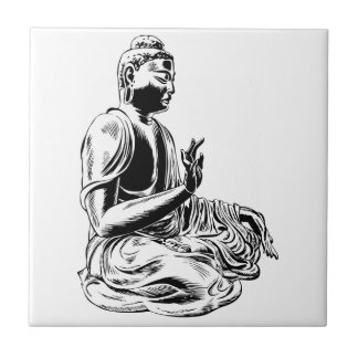 buddha ceramic tile
