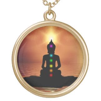 Buddha Chakra Gold Plated Necklace