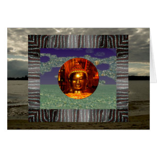Buddha Collage Birthday Card