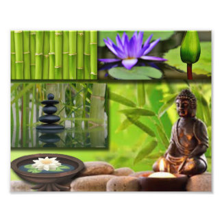 Buddha  Collage Photo Print
