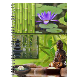 Buddha  Collage Spiral Notebook