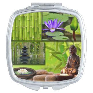 Buddha  Collage Vanity Mirror