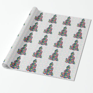 BUDDHA Consciousness : Rolled into JEWELS Wrapping Paper