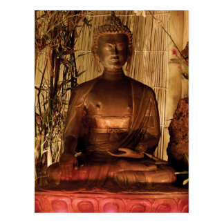 BUDDHA : Copper Statue Postcard