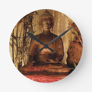 BUDDHA : Copper Statue Wallclocks