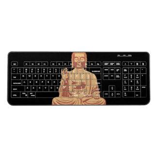 Buddha Design Wireless Keyboard