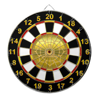 Buddha doing yoga meditation spiritual gold foil dartboard