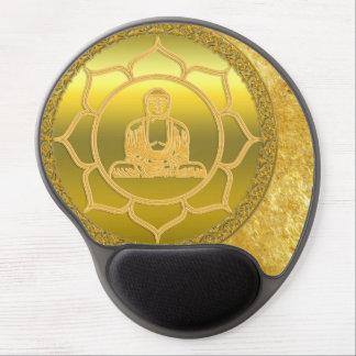 Buddha doing yoga meditation spiritual gold foil gel mouse pad