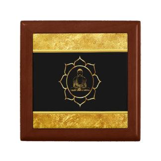 Buddha doing yoga meditation spiritual gold foil gift box