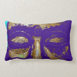 Buddha Eyes Purple Urban Grunge Design Cushion