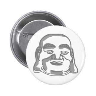 buddha face pinback button