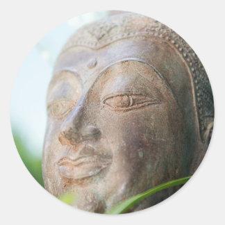 Buddha Face Classic Round Sticker