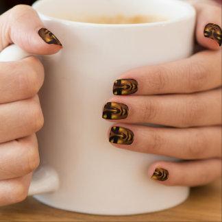 Buddha Face Copper Brown Customized Pattern Design Minx Nail Art