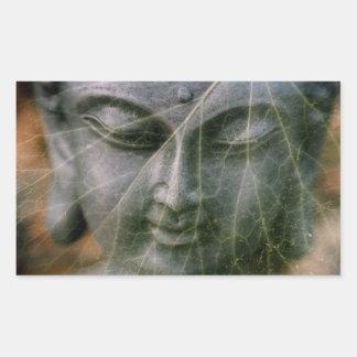 Buddha Face with Leaf Effect Sticker