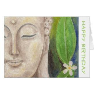 Buddha Flower birthday card