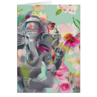 Buddha Ganesha Art greeting card | positivity
