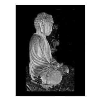 Buddha [garden sculpture] postcard