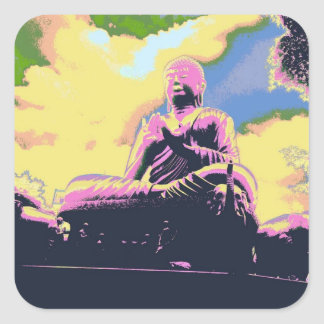 Buddha Gift Wrapping Series Square Sticker