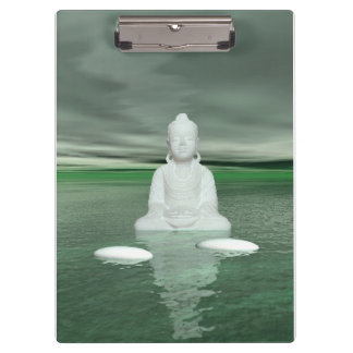 buddha green  and steps white clipboards