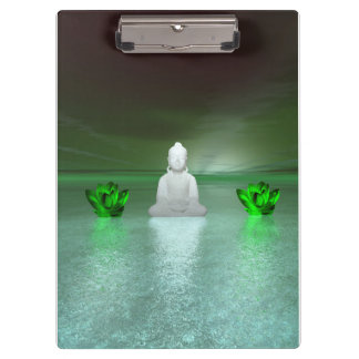 buddha green and water lily green clipboards